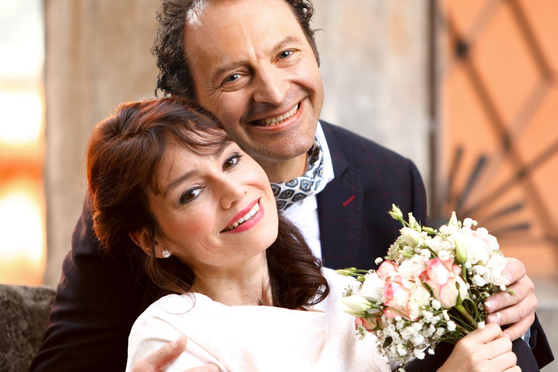 Monsieur Claude und seine Töchter – Lisa Julie Rauen und Jörg Thieme als Adèle und Abraham Bénichon, Wiederaufnahme Dezember 2019