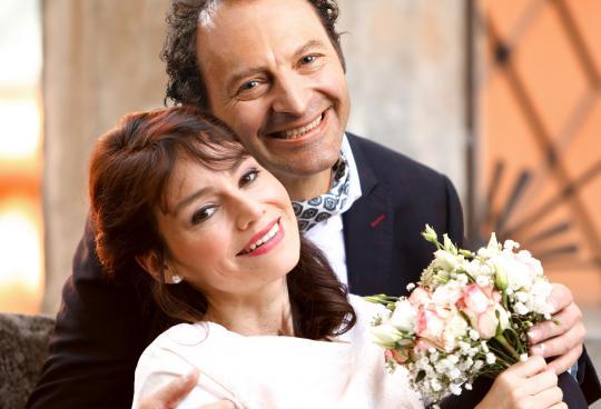 Lisa Julie Rauen und Jörg Thieme als Adèle und Abraham Bénichon, Wiederaufnahme Dezember 2019