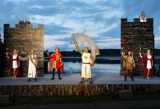 Hauptprobe des Seefestivals Wustrau.